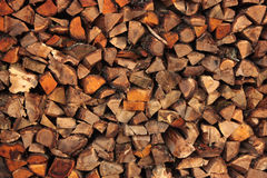 Firewoods. Heap of the wooden glades put in a row Royalty Free Stock Photography