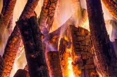 Firewoods burning Stock Photo