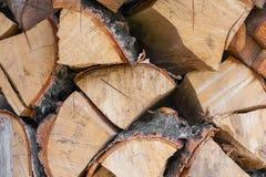 Firewoods impilati struttura, fondo Fotografia Stock Libera da Diritti
