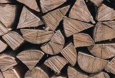 Firewoods no close-up da pilha Fotografia de Stock