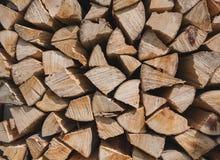 Firewoods no close-up da pilha Imagens de Stock