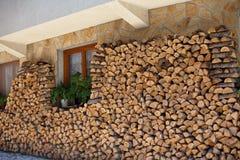 Firewoods storage Royalty Free Stock Photos