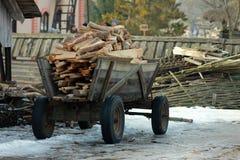 Firewoods su un trasporto Immagine Stock Libera da Diritti