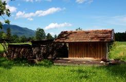 Firewoods und Alpen Lizenzfreie Stockfotos