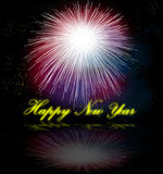 Firework. Hand painted Firework with beautiful different colors Royalty Free Stock Photos