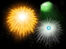 Firework. Hand painted Firework with beautiful different colors Royalty Free Stock Images