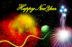 Firework. Hand painted Firework with beautiful different colors Royalty Free Stock Photo
