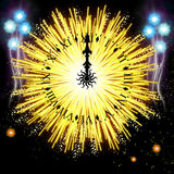 Firework. Hand painted Firework with beautiful different colors Stock Photography