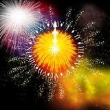 Firework. Hand painted Firework with beautiful different colors Stock Photos