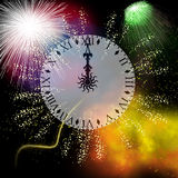 Firework. Hand painted Firework with beautiful different colors Royalty Free Stock Image