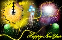 Firework. Hand painted Firework with beautiful different colors Stock Photo