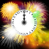 Firework. Hand painted Firework with beautiful different colors Stock Images