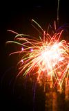 Firework. Big and colorful firework in the night sky Stock Image