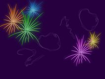 Firework. Celebration at night with beautiful fireworks Stock Image