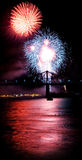 Firework. USA fireworks at La Ronde, Montr顬 (19 july 2006 Royalty Free Stock Images
