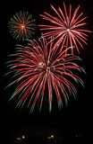 Firework. S bloom in the night sky Stock Photos