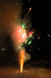 The firework. In the cristmas night Stock Image
