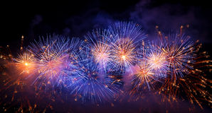 Firework. Streaks in the night sky royalty free stock photography