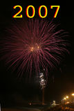 Firework. In a new year party stock images