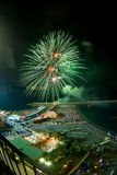 Firework. In sorrento by night Stock Image