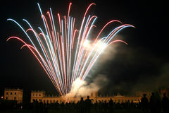 Firework. At the Orangerie castle in Kassel, Germany (during the folk festival Zissel Royalty Free Stock Image