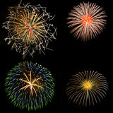 Firework. My favorite colorful firework collection Stock Photos