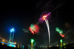 Firework. Colorful firework on a festival Stock Photography