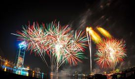 Firework. Colorful firework on a festival Stock Image