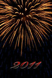 Firework 2011 Royalty Free Stock Photo