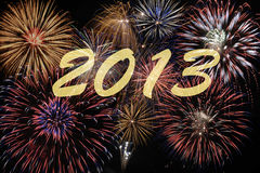 Firework 2013. Firework at night for sylvester new year 2013 Royalty Free Stock Photo