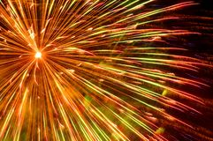 Firework. One big firework on black background Royalty Free Stock Photography