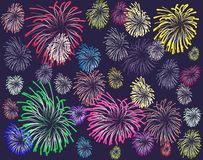 Firework. Color on a background Stock Photography