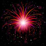 Firework. Holiday background of bright colors on black, for web design. Vector eps10, contains transparencies royalty free illustration
