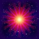 Firework. Holiday background of bright colors on black, for web design. Vector eps10, contains transparencies Royalty Free Stock Images