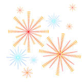 Firework. Decorative holiday red and blue firework Royalty Free Stock Photography