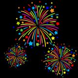 Firework. Colorful firework on black background Royalty Free Stock Images
