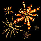 Firework. Abstract decorative holiday colorful fireworks vector illustration