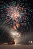 Firework. New year firework in the city Stock Photo