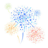 Firework. Abstract decorative festival colorful  firework Royalty Free Stock Photos