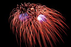 Firework. Large firework display Stock Photography