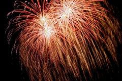 Firework. Large firework display Royalty Free Stock Image
