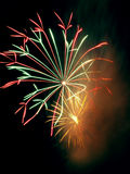 Firework. Salute at date of independence (Latvia Royalty Free Stock Photography
