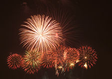 Firework. Display during new year celebration Stock Photo