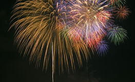 Firework. Display during new year celebration Royalty Free Stock Photography