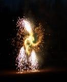 Firework. Festive revolving firework Royalty Free Stock Photos