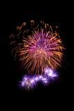 Firework. Majestic firework long exposure photo Royalty Free Stock Images