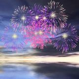 Firework. 3 D Render of an Digital Firework Royalty Free Stock Photos