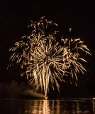 Firework in Aalsmeer. This is a photograph of the fireworks show in Aalsmeer, the Netherlands royalty free stock photography