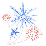 Firework. Abstract decorative holiday colorful firework Stock Images
