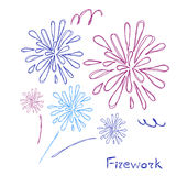 Firework. Abstract decorative holiday festival firework Stock Photo